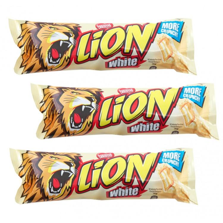 Lion Bars White 42g - 3 For £1